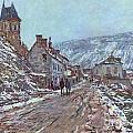 Street In Vetheuil In Winter by Extrospection Art