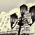 Street Lamps Of Budapest Hungary by Marianna Mills
