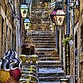Street Lane In Dubrovnik Croatia by David Smith