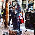Street Performer In Downtown San Francisco . 7d4246 by Wingsdomain Art and Photography