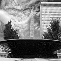 Street Photography Downtown Asheville Fountain  by Gray  Artus
