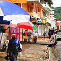 Street Scene In Rosea Dominica Filtered by Duane McCullough