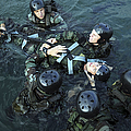 Students Secure A Simulated Casualty by Stocktrek Images