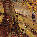 Study Of Tree Trunks by John Constable