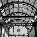 Subway Glass Station In Black And White by Rob Hans