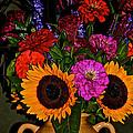 Summer Flower Bouquet by Susan Herber