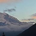 Summer Sunset On Mt. Rainier by Frank Larkin