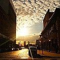 Summer Sunset Over A Cobblestone Street - New York City by Vivienne Gucwa