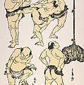 Sumo Wrestlers, 1817 by Granger
