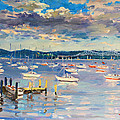 Sun And Clouds In Hudson by Ylli Haruni