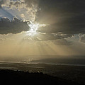 Sun And Clouds Over Sea by Michael Goyberg