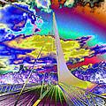 Sun Dial Bridge Redding Ca   by Joyce Dickens
