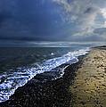 Sun Light On Dunwich Beach by Darren Burroughs