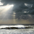 Sun Rays On Ocean by Carlos Caetano