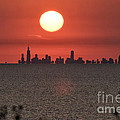 Sun Setting Over Chicago by Christopher Purcell