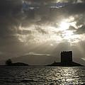 Sunbeams On Castle Stalker by Howard Kennedy