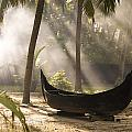 Sunlight Shining On A Canoe by Keith Levit