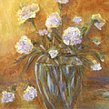 Sunny Carnations In A Vase by Claire Bull