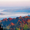 Sunrise And Fog In The Cumberland River Valley by Greg Matchick