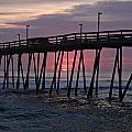 Sunrise At Avalon Pier by Andrea Stuart-Bishop