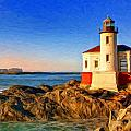 Sunrise At Coquille River Lighthouse by Dominic Piperata