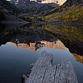 Sunrise At The Maroon Bells Reflected by Pete Mcbride