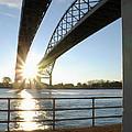 Sunrise Blue Water Bridges by Ronald Grogan