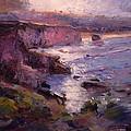 Sunrise On Pismo Beach Ca by R W Goetting
