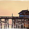 Sunrise On Rickety Pier by Janie Johnson