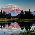 Sunrise On The Tetons by Sue Karski