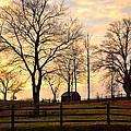 Sunrise Over A Barn by Heather Nicole Williams
