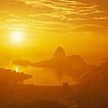 Sunrise Over Rio De Janeiro And Sugar by Richard Nowitz