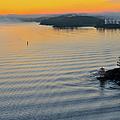 Sunrise Ryssmasterna Lighthouse Sweden by Marianne Campolongo