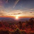 Sunrise-talimena Scenic Drive Arkansas by Douglas Barnard