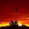 Sunrise Windmill 1 C by John Brueske