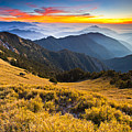 Sunset , Hehuan Mountain , Taroko National Park , by Higrace Photo