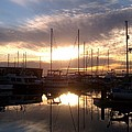 Sunset And Boats by Jerry Cahill