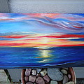 Sunset And Stone by April Murray