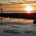 Sunset And Tidal Pool Cape Charles Va by Sven Migot
