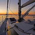 Sunset At Burlington Harbour ... by Juergen Weiss