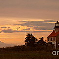 Sunset At East Point Light  by Nancy Patterson