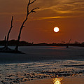 Sunset At Folly Island Sc by Richard Marquardt