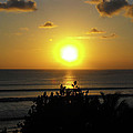 Sunset At Kuta Beach by Marlene Challis