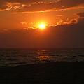 Sunset At Madaket Beach - Nantucket by Becky Lodes