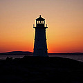Sunset At Peggy's Cove by Bill Lindsay