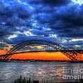 Sunset At The Bayonne Bridge by Paul Ward