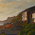 Sunset At The Beach House by Terry Taylor