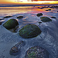Sunset At The Beach by Pall Jokull Petursson