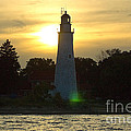 Sunset At The Ft. Gratiot Lighthouse by Ginger Harris