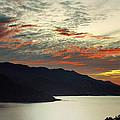 Sunset At The Lake by David Resnikoff